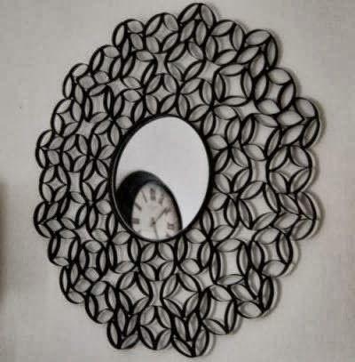 / / Miroir / / Noir / / Rouleaux de Papier Toilette / /