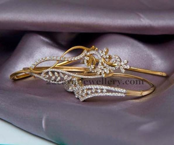 Jewellery Designs: Fancy Delicate Bracelet with Diamonds