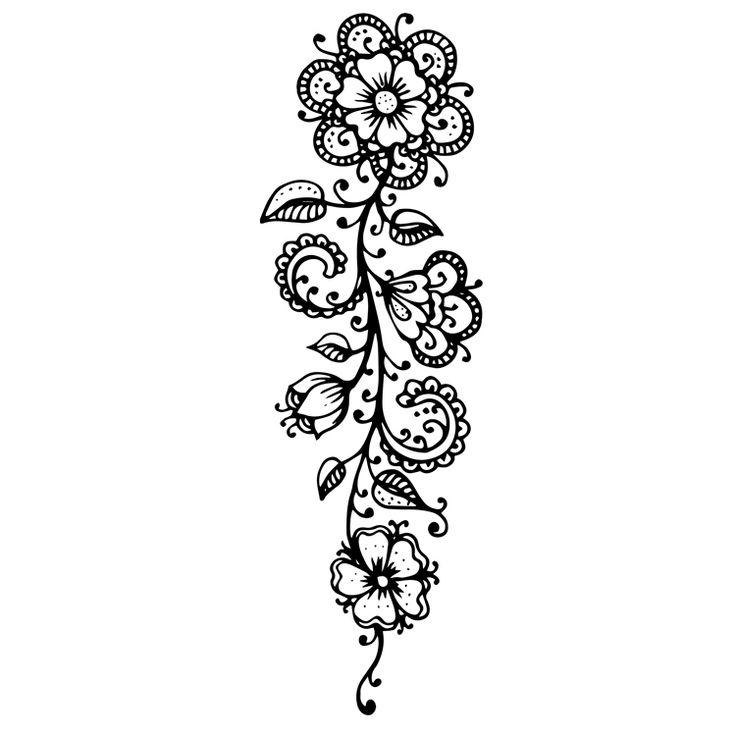 Henna Design Temporary Tattoos #629