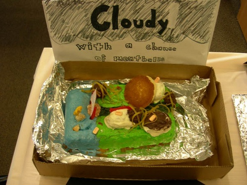Cloudy With a Chance of Meatballs  Edible Book Contest  Independence High School   2010 Entry