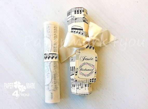 Music Theme Will You Be My Bridesmaid Card_ by PaperMark4You