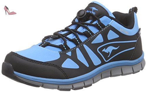 KangaROOS  KOS 555, Chaussures de trekking et randonnée garçon - Bleu - Blau (lake blue/black 455), 28 - Chaussures kangaroos (*Partner-Link)