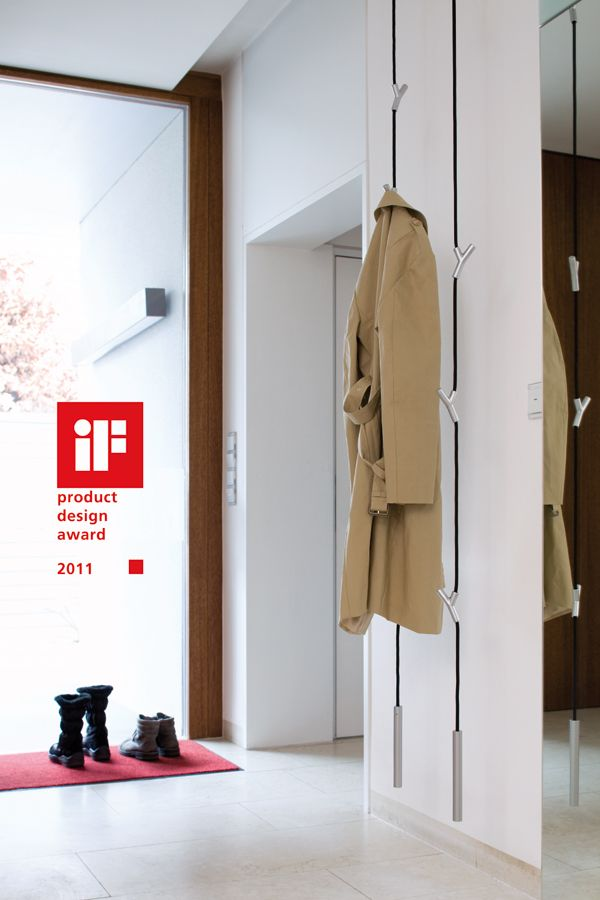 A clever and wonderful piece of design for your front hall -- the Wardrope