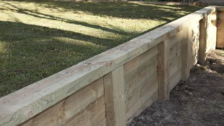 how to build a timber retaining wall bunnings