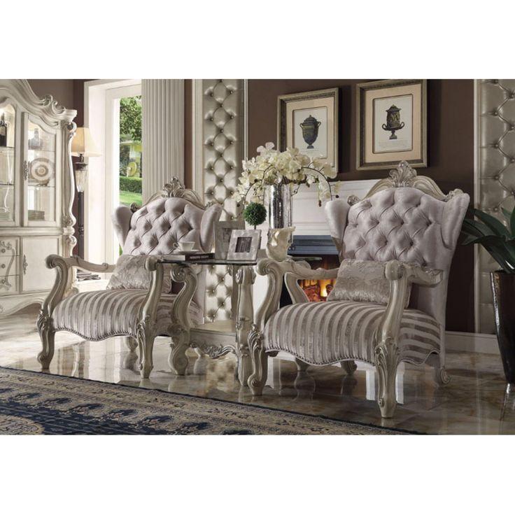 Benzara Versailles Chair With Pillow Brown Sofa