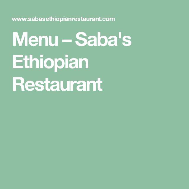 Menu – Saba's Ethiopian Restaurant