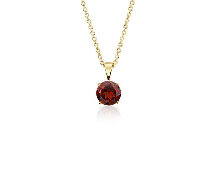 Garnet Pendant in 18k Yellow Gold   #Red #Jewelry