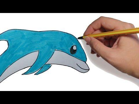 Dibujos De Animales Faciles Delfin Saltando Paso A Paso Facil A Lapiz Y Color Para Animales Faciles De Dibujar Dibujos De Animales Aprender A Dibujar Animales