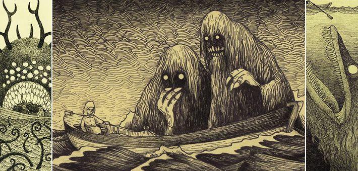 Οι «τρομακτικές» εικονογραφήσεις του John Kenn Mortensen – Monster drawings