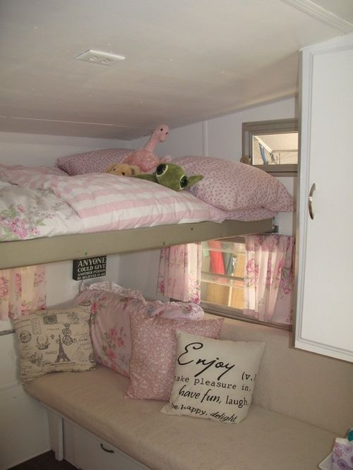 vintage trailer | Tumblr a good idea loft up for a sleeping bunk.