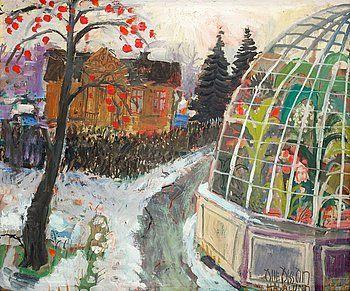"""OLLE OLSSON-HAGALUND, """"Victoria Regia-huset"""". - Bukowskis"""