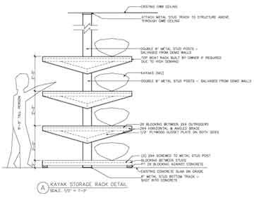 Image result for wooden kayak rack plans for building for Boat storage shed plans