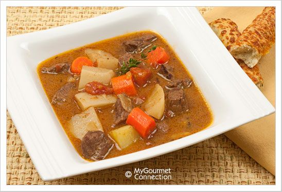 Pressure Cooker Beef Stew Recipe from MyGourmetConnection