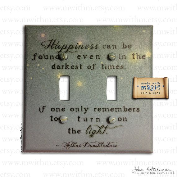 'Turn on the Light' Harry Potter Inspired Switch Plate