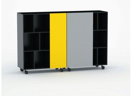 K2 Mono // ny mobil reol på hjul. Design: Friis & Moltke.