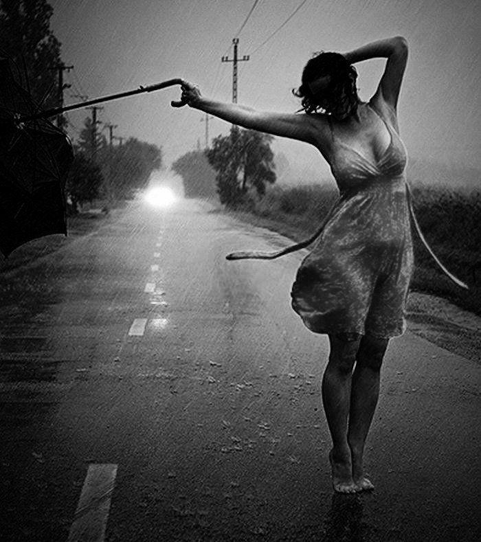 Aspen's naked dance in the rain