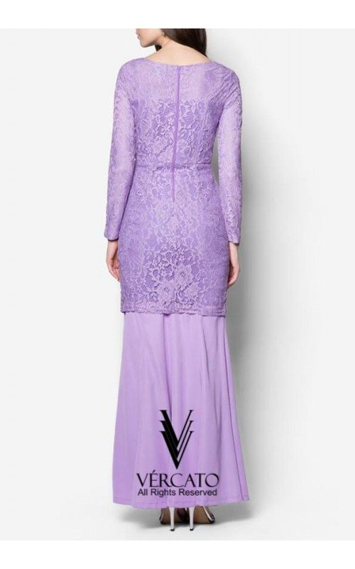 Exude sheer opulence for the coming festive season through this elegant baju kurung by VERCATO. Featuring a delicate lace detail decorating the bodice, this piece combines the demurity of traditional wear with the sophistication of modern times. SHOP here: www.vercato.com