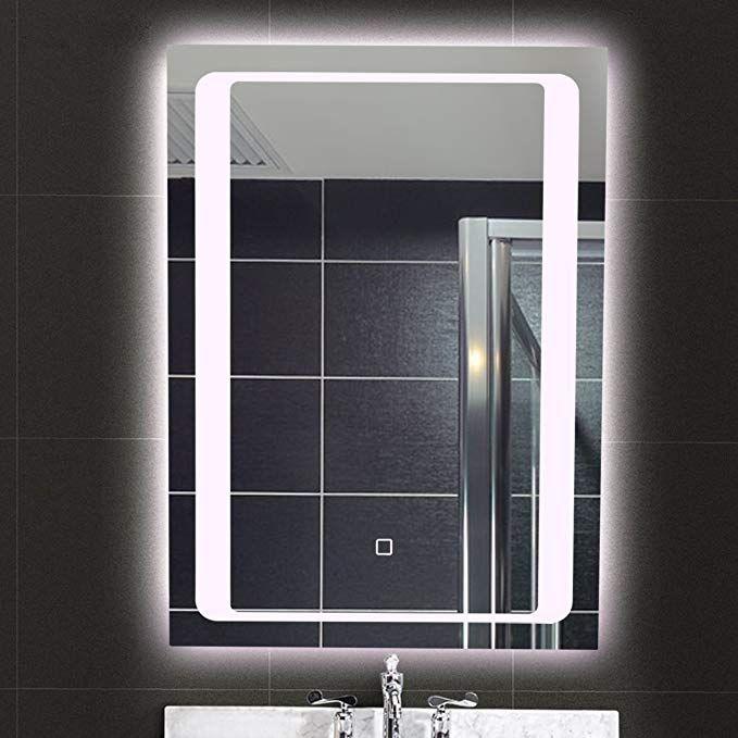 Aodailihb Bathroom Mirrors For Wall With Lights Waterproof Anti Fog Led Backlight Wall Makeup Mirror 27 6x19 7 Review Mirror Bathroom Mirror Led Mirror
