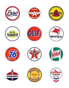 Oil Company Logos | figured i d gather a few vintage gas and oil company logos together