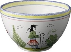 "Quimper pottery.....I have loved this pottery since I first saw it in ""The Schoolhouse Shop"" in Indiana...late 1960s."