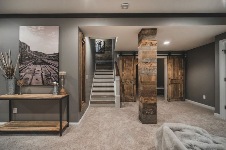 Rustic basement ideas basement rustic with reclaimed barn wood media cabinets
