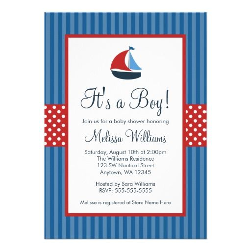 466 best nautical baby shower invitations images on pinterest baby nautical sailboat stripes baby shower invitations filmwisefo