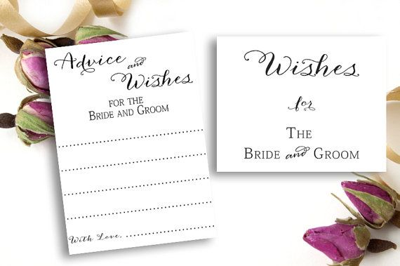Wedding Well Wishes Advice Cards Free Wishes Sign By Weddingfusion