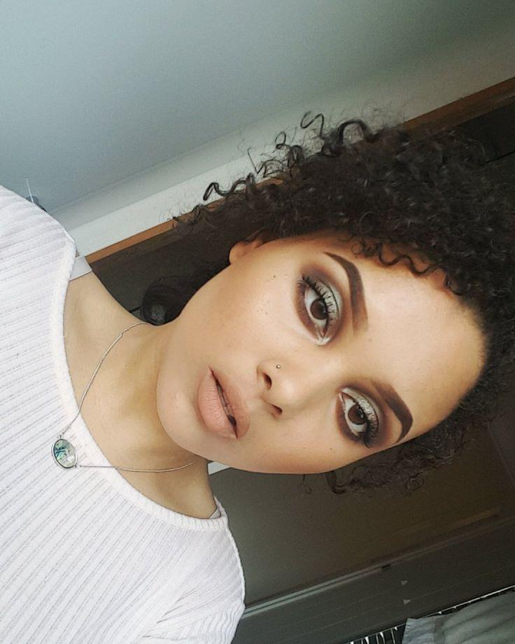 MakeupGeek's duochrome eyeshadow 'havoc', also wearing  @NyxCosmetics soft matte lip cream in London