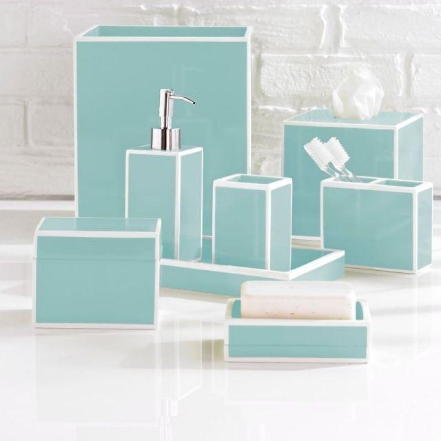 1000 id es sur le th me salle de bains pastel sur for Accessoire salle de bain bleu turquoise