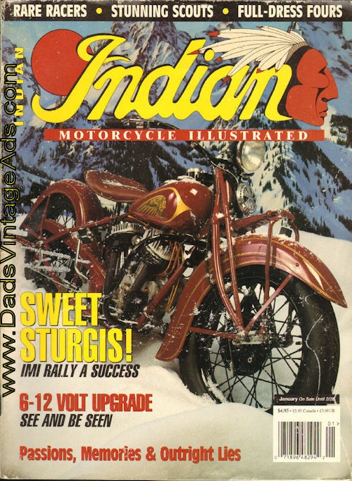"""Indian Motorcycle Illustrated – George Renfro's 1936 """"Hollywood"""" Chief"""