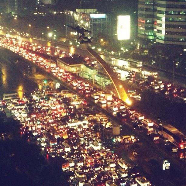 Welcome to Jakarta's traffic jam