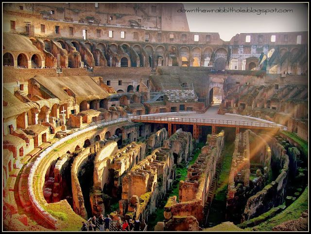 """Visit the awe-inspiring Roman Coliseum! Find out more at """"Down the Wrabbit Hole - The Travel Bucket List"""". Click the image for the blog post."""