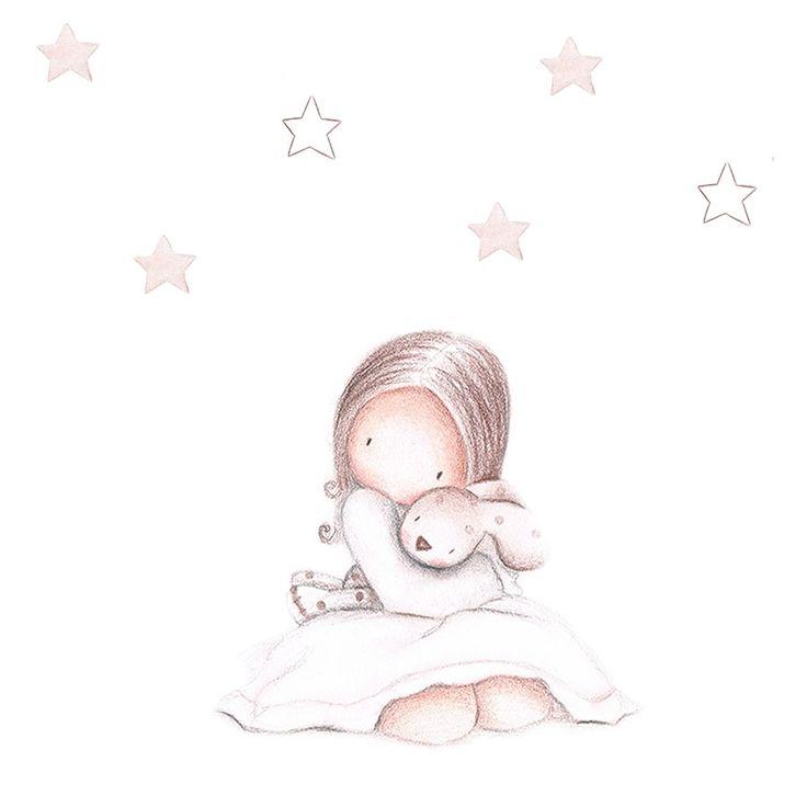Las 25 mejores ideas sobre imagenes infantiles en for Vinilo habitacion bebe nina