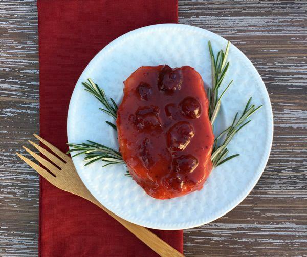 Cranberry Pork Chop Recipe from TheFrugalGirls.com
