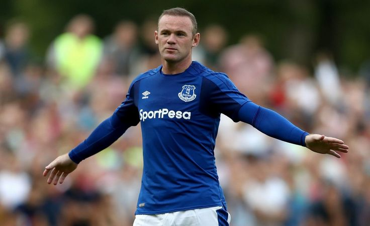 Wayne Rooney of Everton gestures during a friendly match between FC Twente and Everton