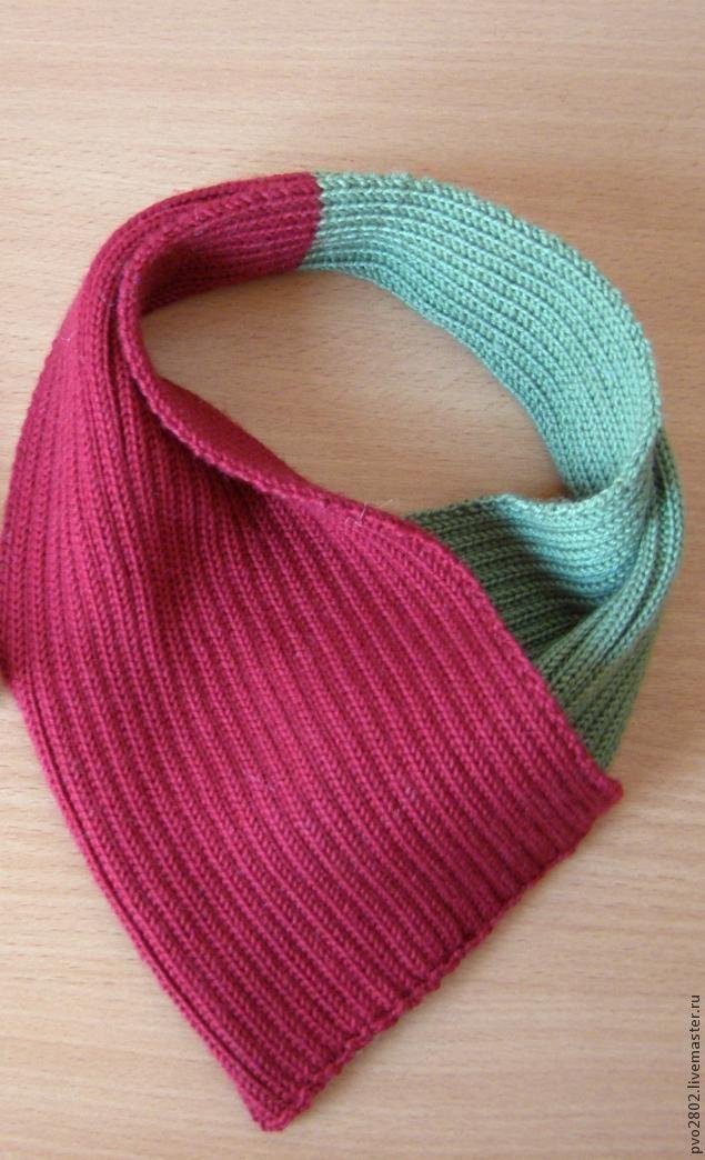 шарф, шарфы, шарф вязаный, аксессуар, мастер-класс, вязание, вязание на спицах, ручная работа, мастер класс