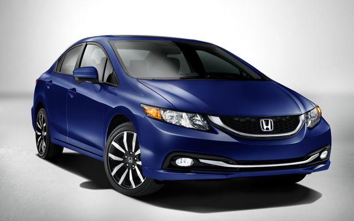 2014 Honda Civic EX Sedan in a beautiful Dyno Blue. Grey interior. ??  What do you think ??