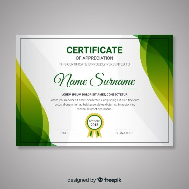 Free Certificate Template With Abstract Modern Shapes Svg Dxf Eps Png Desain Banner Desain Brosur Spanduk