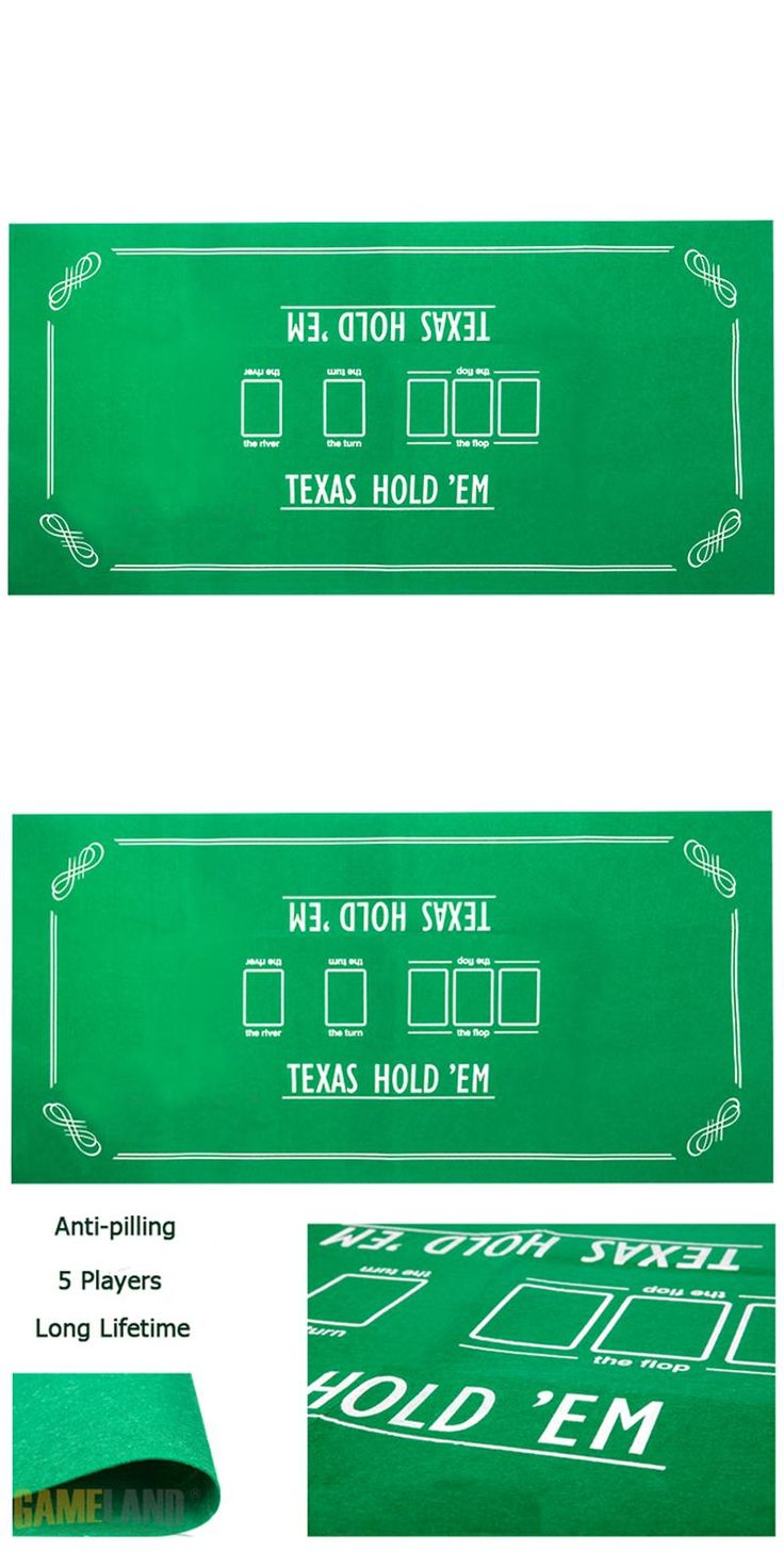 [Visit to Buy] 140*70cm 5 Players Anti-pilling Texas Hold'em Poker Table Cloth Poker Layouts Set Poker Felt Layout #Advertisement