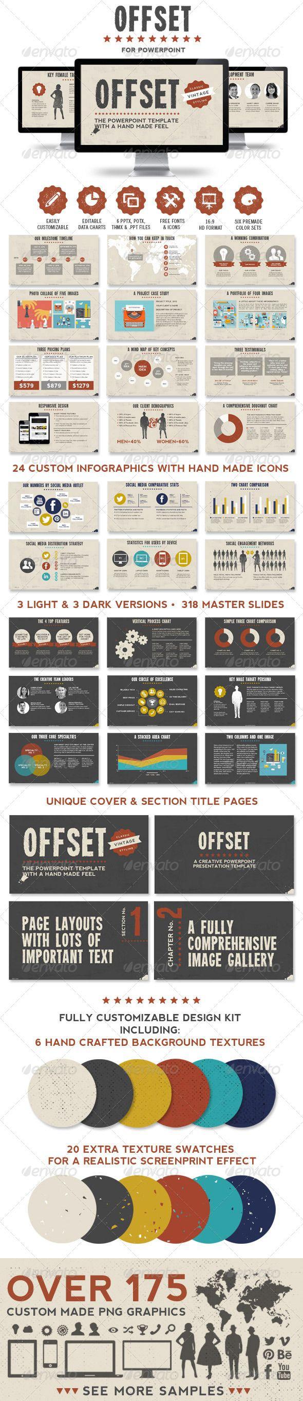 Offset Powerpoint Presentation Template - Creative Powerpoint Templates