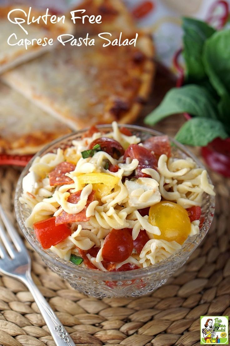 Easy to make Gluten Free Caprese Pasta Salad is ideal for busy weeknight dinner. And your kids will love it! Click here to get the gluten free salad recipe. (sponsored)