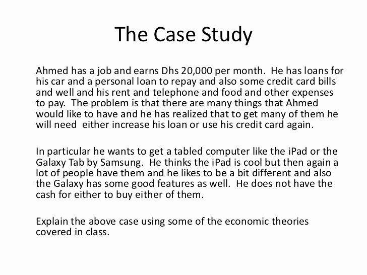 Student Case Study Example