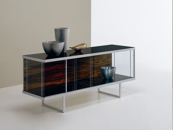 Glass sideboard with sliding doors BROADWAY LOW Broadway Collection by T.D.  Tonelli Design | design Bartoli