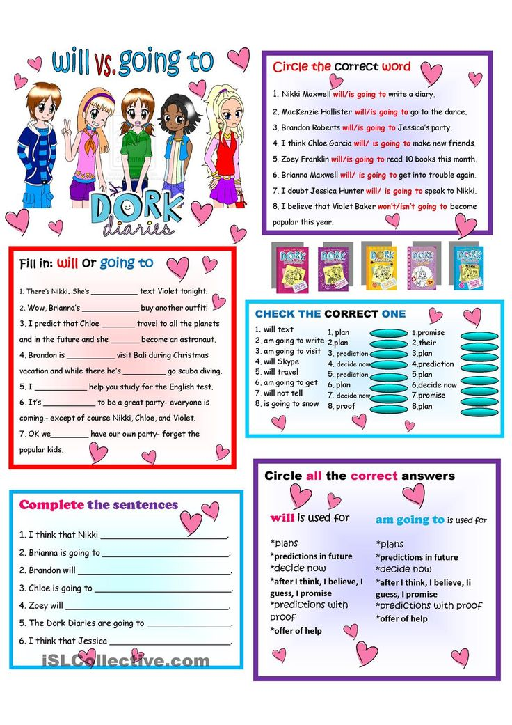 Dork Diaries Grammer worksheet