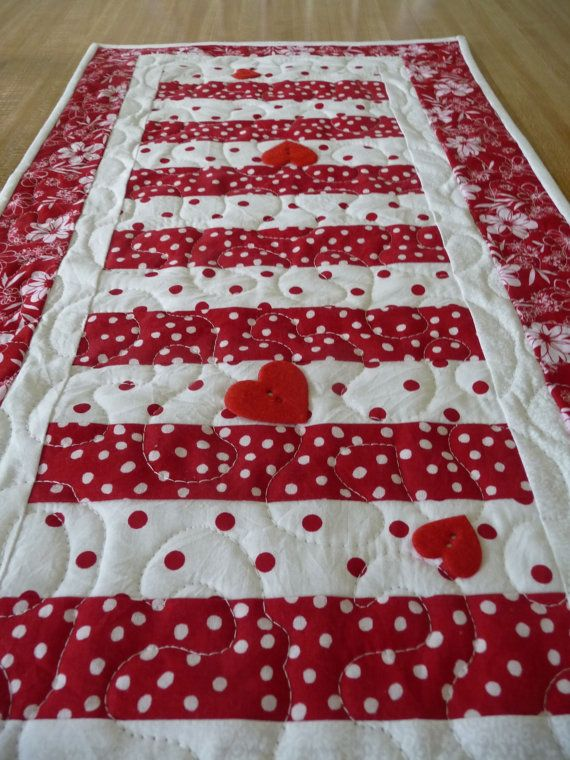 Valentine S Day And St Patrick S Day Table Runner In One