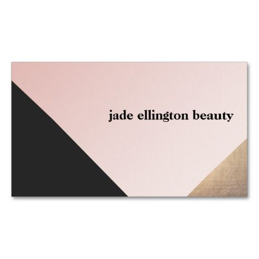 Gold, Black and Pink Diagonal Colorblock Beauty Business Cards. Great card for interior designers, event planners, beauty consultants, hair salons, fashion boutiques and more. Fully customizable and ready to order.