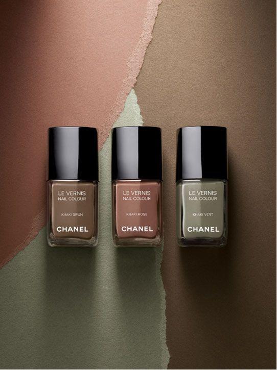 La tendance militaire selon Chanel : vernis à ongles Les Khakis – Laurence Pierna