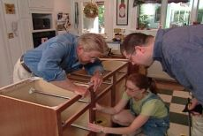 How to build a kitchen island with prefabricated cabinets