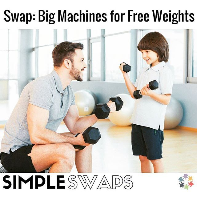 Try this simple swap to make the most of #workouts: free #weights give a full range of motion in the #joints  #fitness #gymmemes #health #tips #wellness #getfit