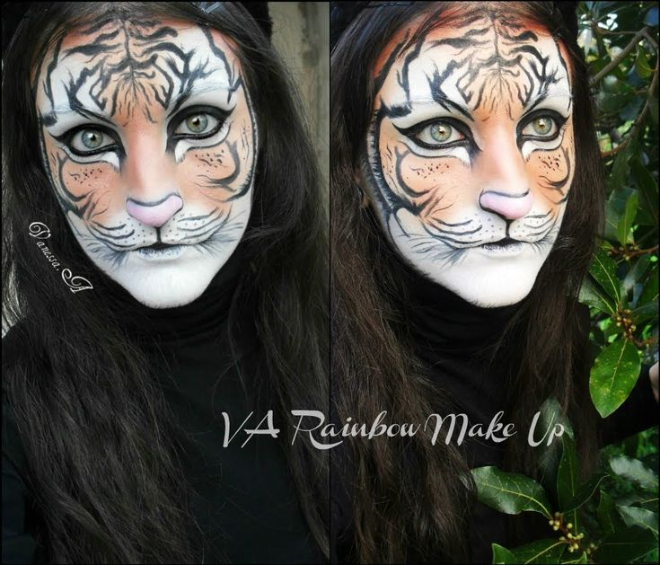 Tiger make up - Face painting - YouTube
